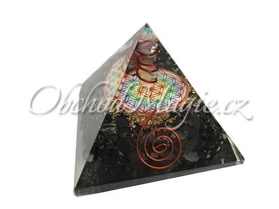 Orgonit-Orgonit pyramida Květ života 6,5 cm