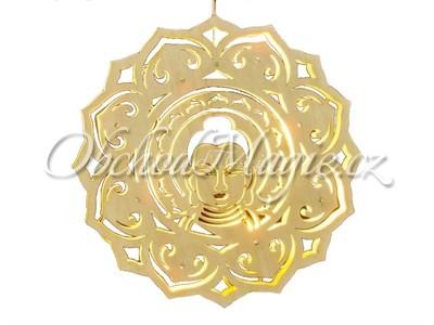 Větrné a světelné mobily-Feng Shui Buddha světelná závěsná LED dekorace