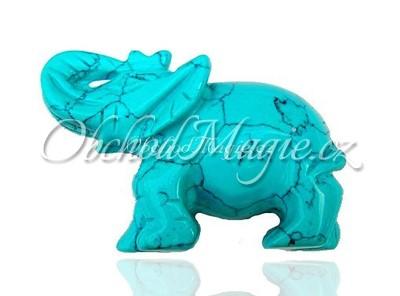 Sloni-Slon z rekonstruovaného tyrkysu 7,5 cm