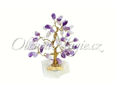 Dárky a dekorace-Stromeček štěstí ametyst 7 cm