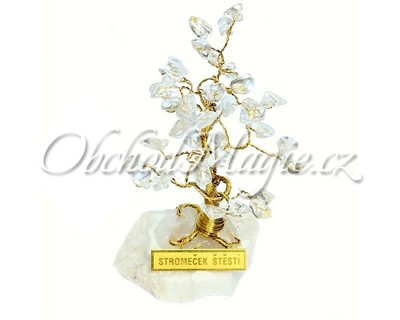 Dárky a dekorace-Stromeček štěstí křišťál 10 cm