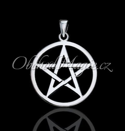 Pentagram-Pentagram přívěsek Ag925/1000, Ø2,5cm