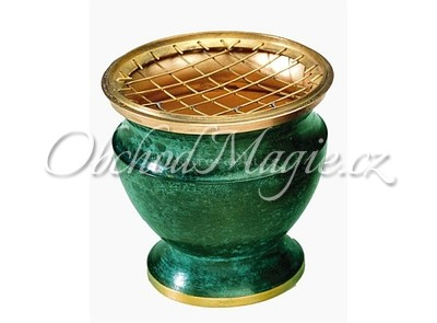 Vykuřovací misky-Vykuřovací miska smalt zelená