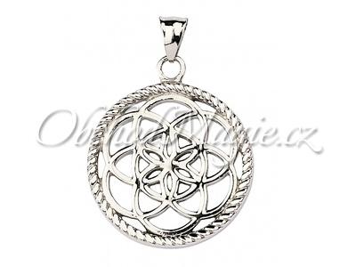 Amulety ochrana -Lapač snů květ silver