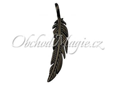 Amulety ostatní -Pírko black