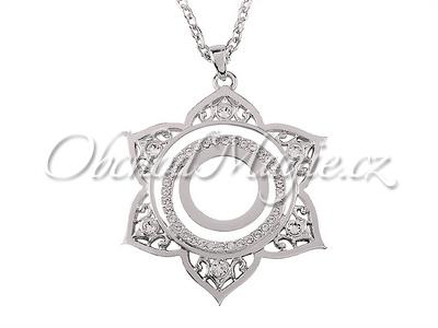 Swarovksi čakrové šperky-Přívěsek druhá čakra Svadhisthana Swarovski s řetízkem