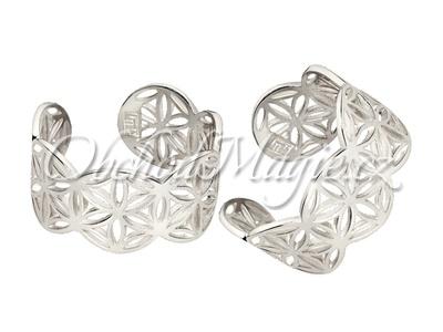 Šperky zdraví-Náušnice Květ života stříbrné 925/1000