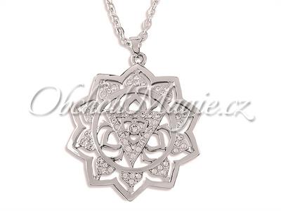 Swarovksi čakrové šperky-Přívěsek třetí čakra Manipura Swarovski s řetízkem