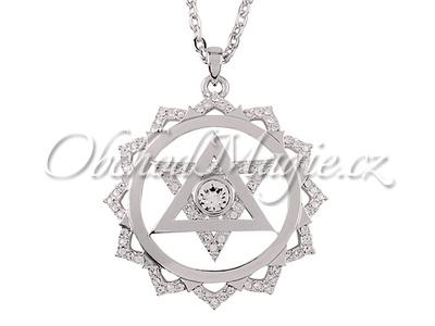 Šperky Swarovski-Přívěsek čtvrtá čakra Anahata Swarovski s řetízkem