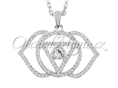 Swarovksi čakrové šperky-Přívěsek šestá čakra Ajna Swarovski s řetízkem