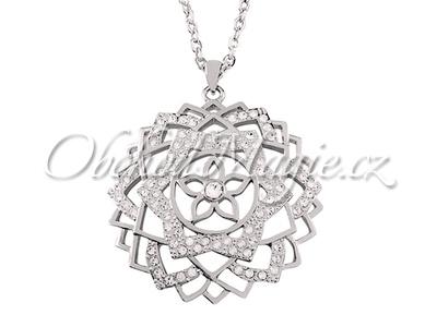 Šperky Swarovski-Přívěsek sedmá čakra Sahasrara Swarovski s řetízkem