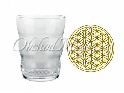 Sklenice Vital-Sklenice Jasmin Gold s Květem života, 0,3l