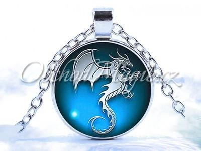 Amulety hojnost -Nebeský bílý drak posilující amulet