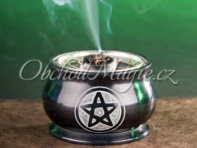 Vykuřovací misky-Miska s pentagramem z mastku