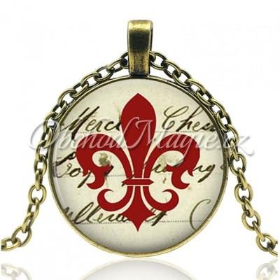 Amulety hojnost -Fleur de lis posilující vintage amulet