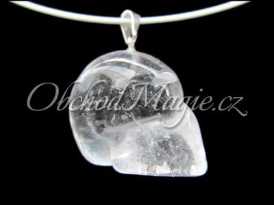 Šperky z kamenů-Křisťálová lebka přívěšek