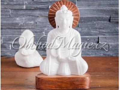 Buddha-Socha Buddhy z alabastru, 21cm