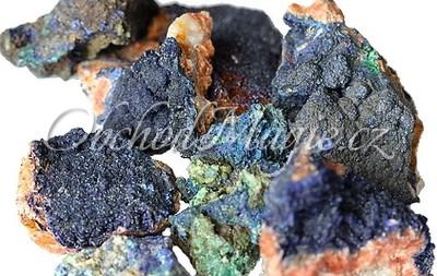 Krystaly, drůzy a surové kameny-AZURIT MALACHIT, surový kámen