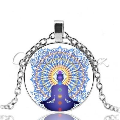 Amulety zdraví -BUDDHA S MANDALOU čakrový amulet