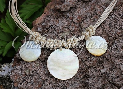 Šperky z kamenů-Náhrdelník s perletí