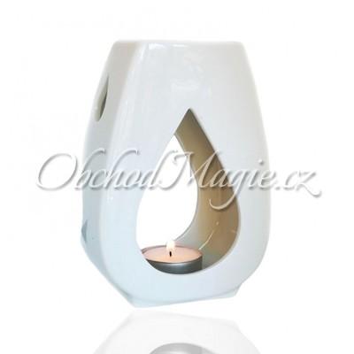 Keramické aromalampy-ASHLEIGH & BURWOOD keramická aromalampa DROPLET WHITE
