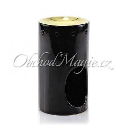 Luxusní aromalampy-ASHLEIGH & BURWOOD keramická aromalampa BLACK & GOLD