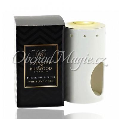 Luxusní aromalampy-ASHLEIGH & BURWOOD keramická aromalampa WHITE & GOLD