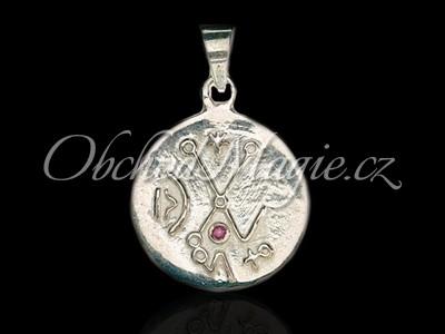 Šperky láska-Láska Venuše s granátem přívěsek Ag 925/1000