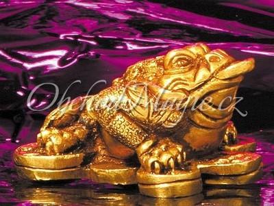Hojnost-Třínohá žába hojnosti 6,5 cm - socha Feng Shui
