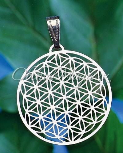 Amulety zdraví -KVĚT ŽIVOTA, přívěsek, nerez ocel