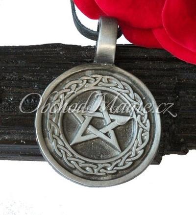 Pentagram-Trámcový pentagram - magický amulet