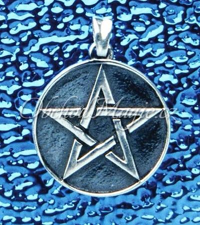 Šperky ochrana-Pentagram s patinou přívesek Ag 925/1000