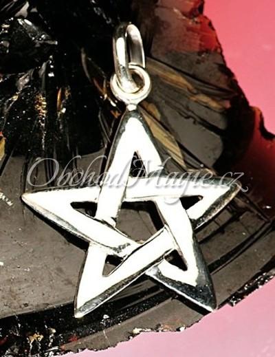 Šperky ochrana-Pentagram přívěsek Ag925/1000, 35mm