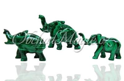 Sloni-Slon malachit 7,5 cm